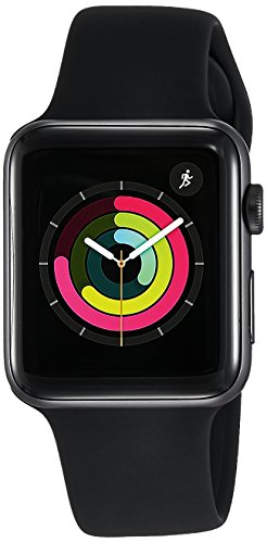 the latest 5af40 2fd0b Apple Watch Series 3 GPS - 42 mm Space Grey Aluminium Case with Grey Sport  Band(Grey Strap Regular)