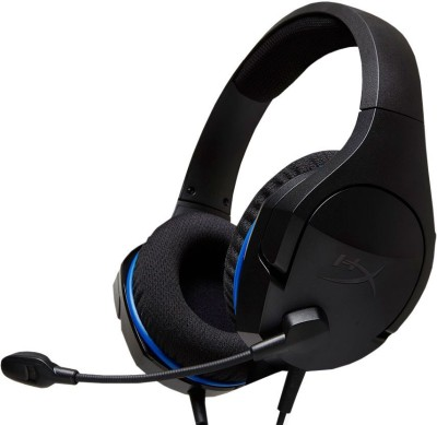 hyperx cloud stinger core hx hscsc bk wired gaming headsetblue black on