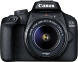 Canon EOS 3000D Single Kit with 18-55 lens (16 GB Memory Card & Carry Case) DSLR Camera